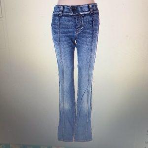Diesel jeans with front seams and zipper hems